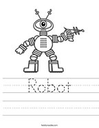 Robot Handwriting Sheet