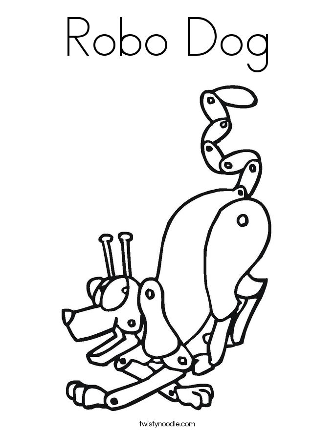 Robo Dog Coloring Page - Twisty Noodle