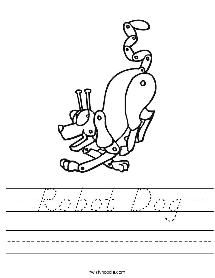 Robot Dog Worksheet