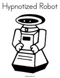 Hypnotized Robot Coloring Page