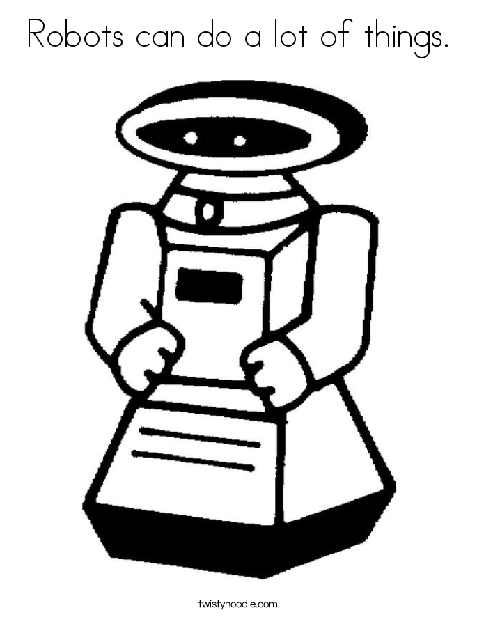 Robots can do a lot of things. Coloring Page