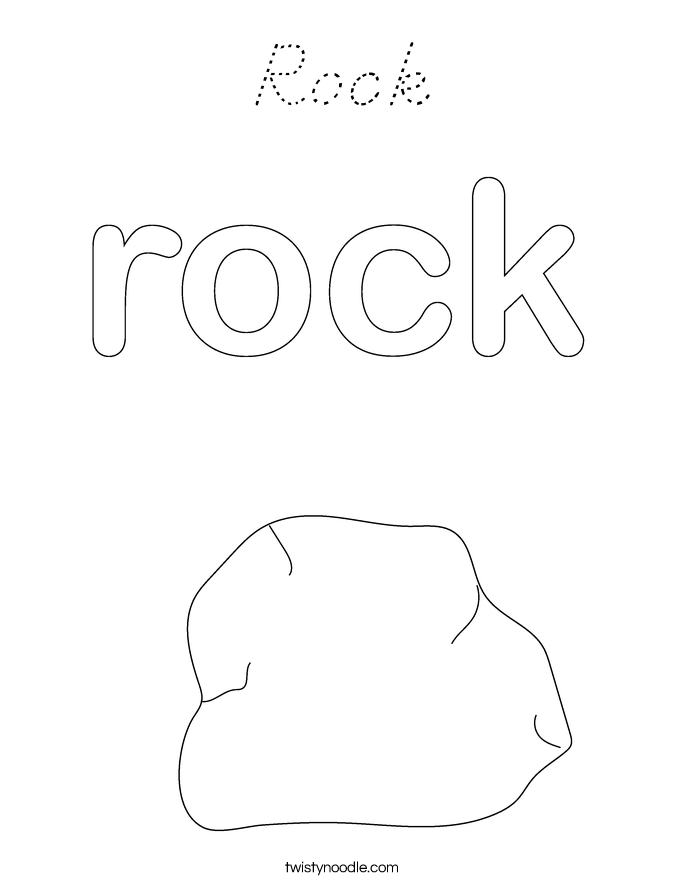 Rock Coloring Page