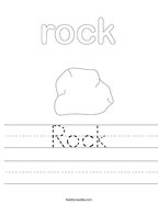 Rock Handwriting Sheet
