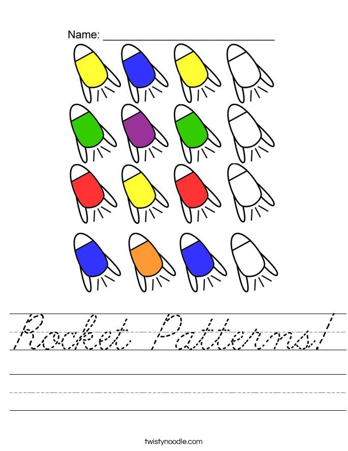 Rocket Patterns! Worksheet