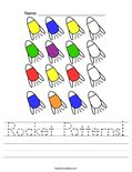 Rocket Patterns! Worksheet
