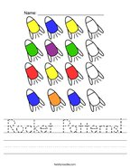 Rocket Patterns Handwriting Sheet