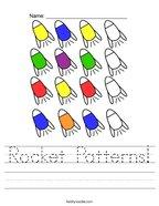 Rocket Patterns Handwriting Sheet