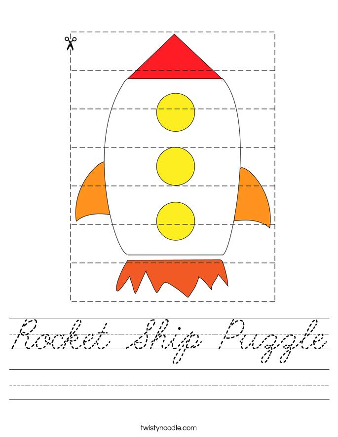 Rocket Ship Puzzle Worksheet