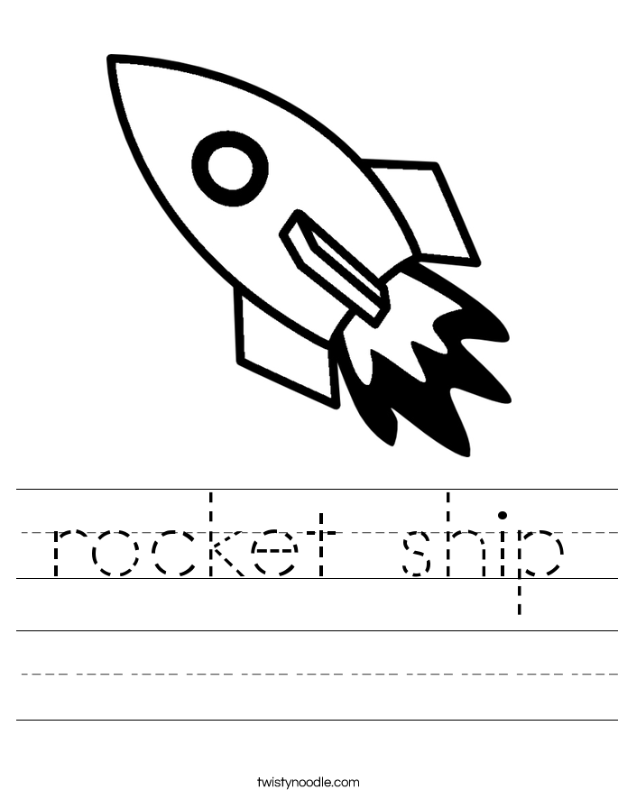 rocket ship Worksheet - Twisty Noodle