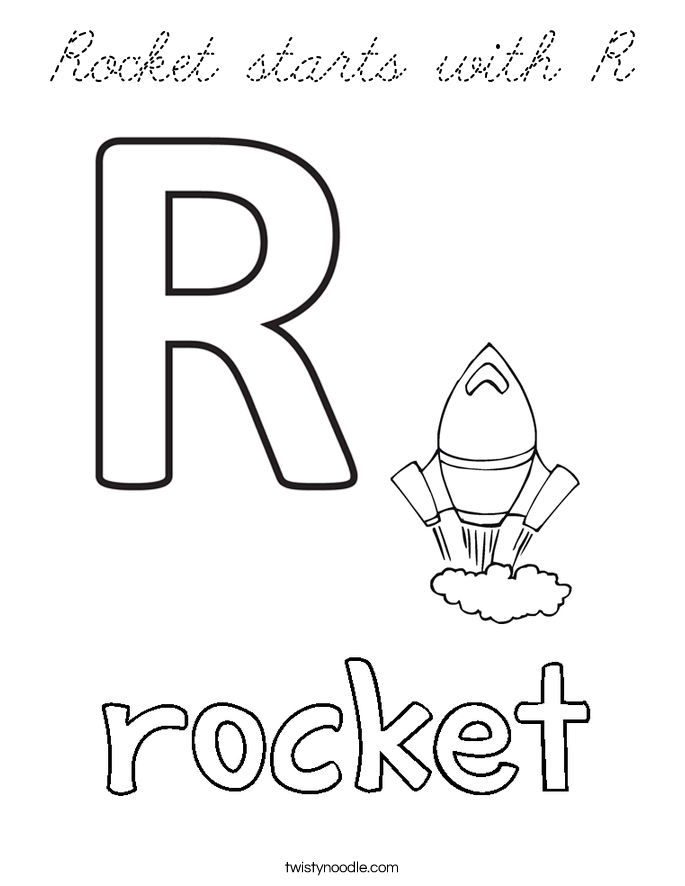 Cursive r coloring pages pictures to pin on pinterest for Cursive coloring pages