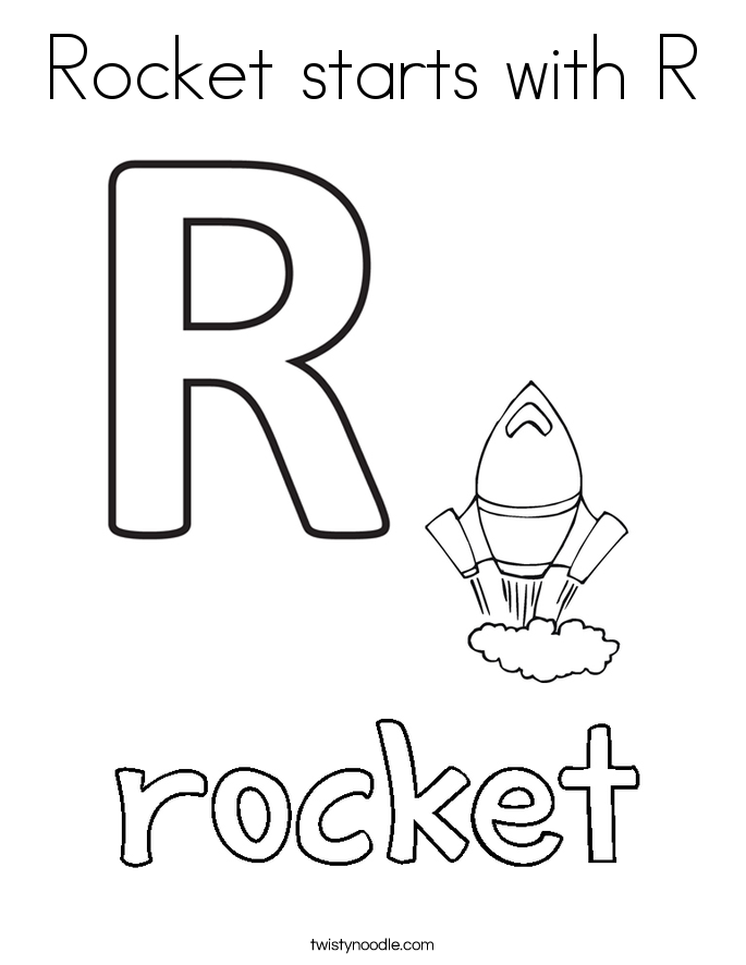 Rocket starts with R Coloring Page