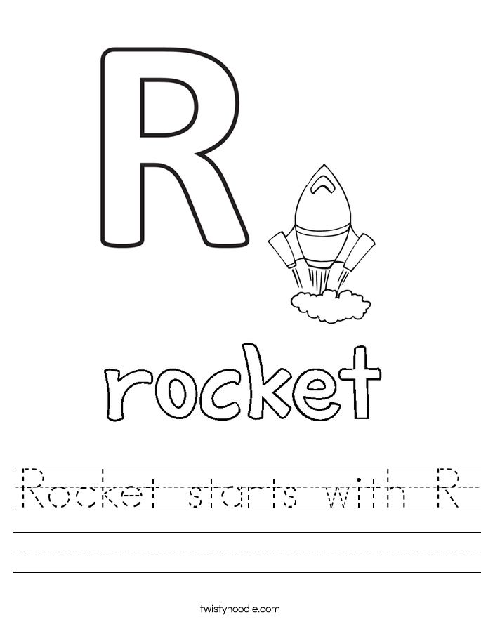 Rocket starts with R Worksheet