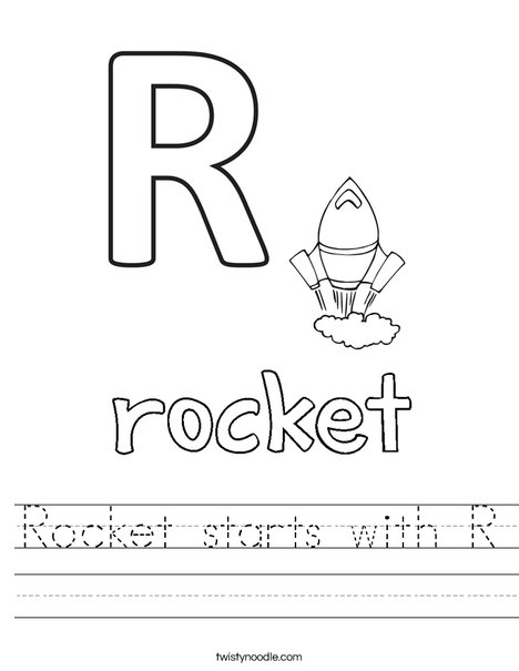 Rocket starts with R Worksheet