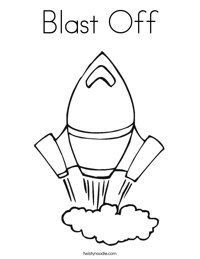 blast off into reading coloring pages | Blast Off Coloring Page - Twisty Noodle