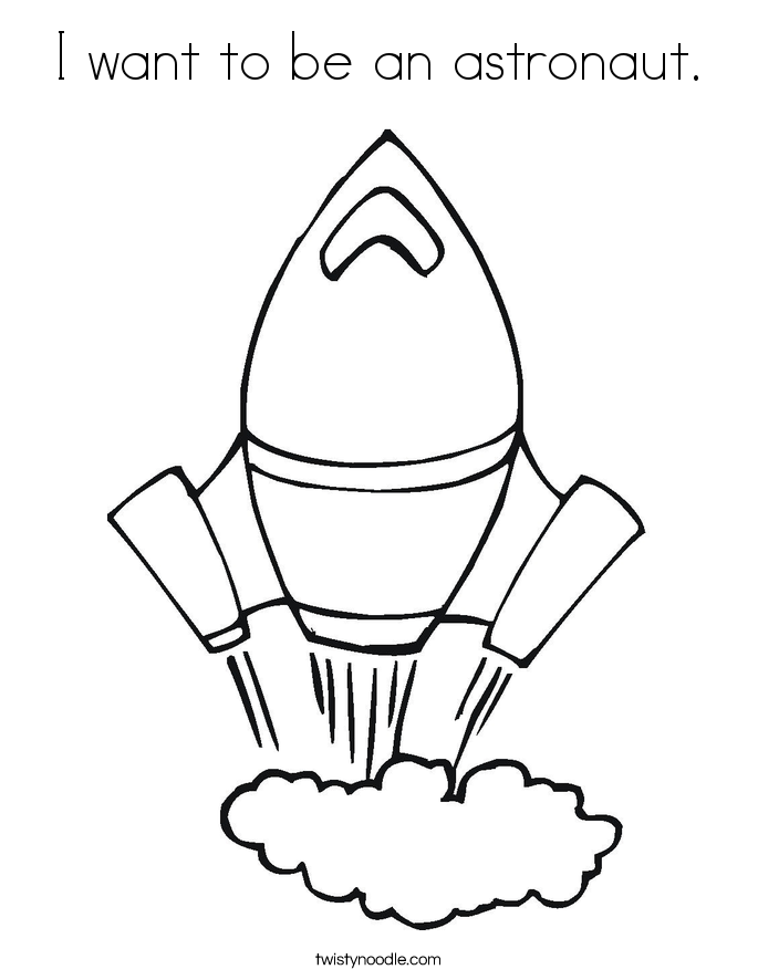 I need coloring pages ~ I want to be an astronaut Coloring Page - Twisty Noodle