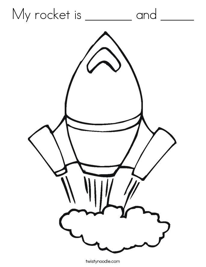 My rocket is _______ and _____ Coloring Page