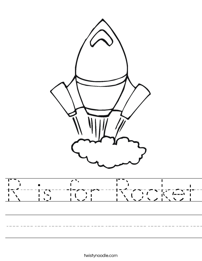 is for Rocket Worksheet - Twisty Noodle