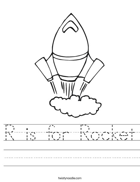 letter r is for rocket coloring page free printable r is for rocket worksheet twisty noodle 391