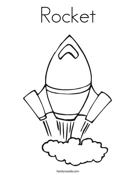 Gentil Rocket Coloring Page