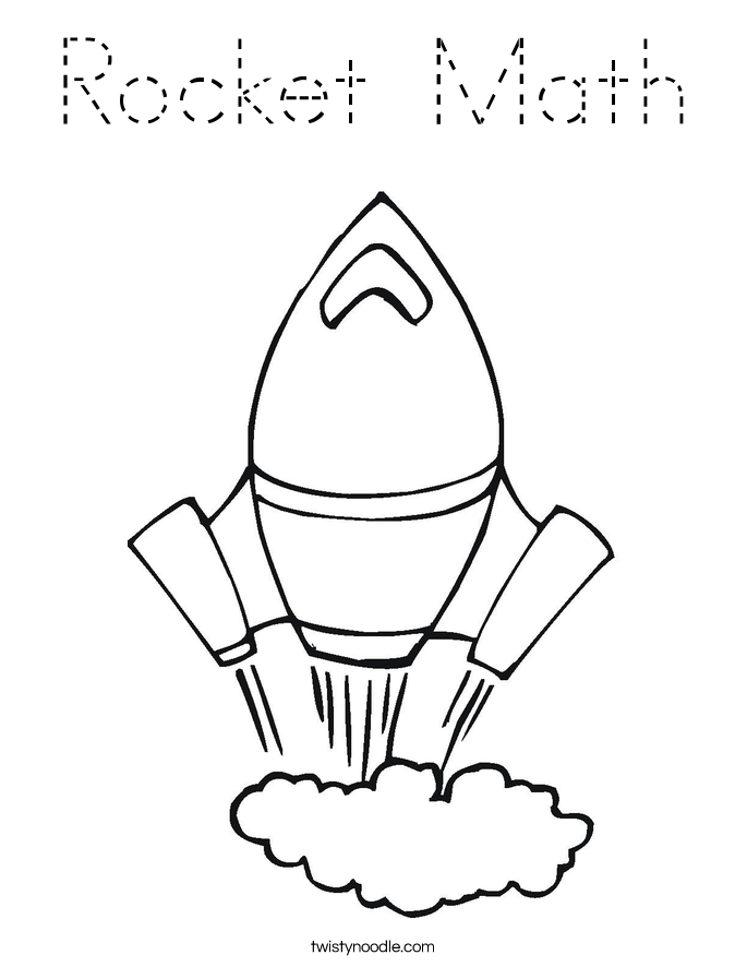 Rocket Math Coloring Page