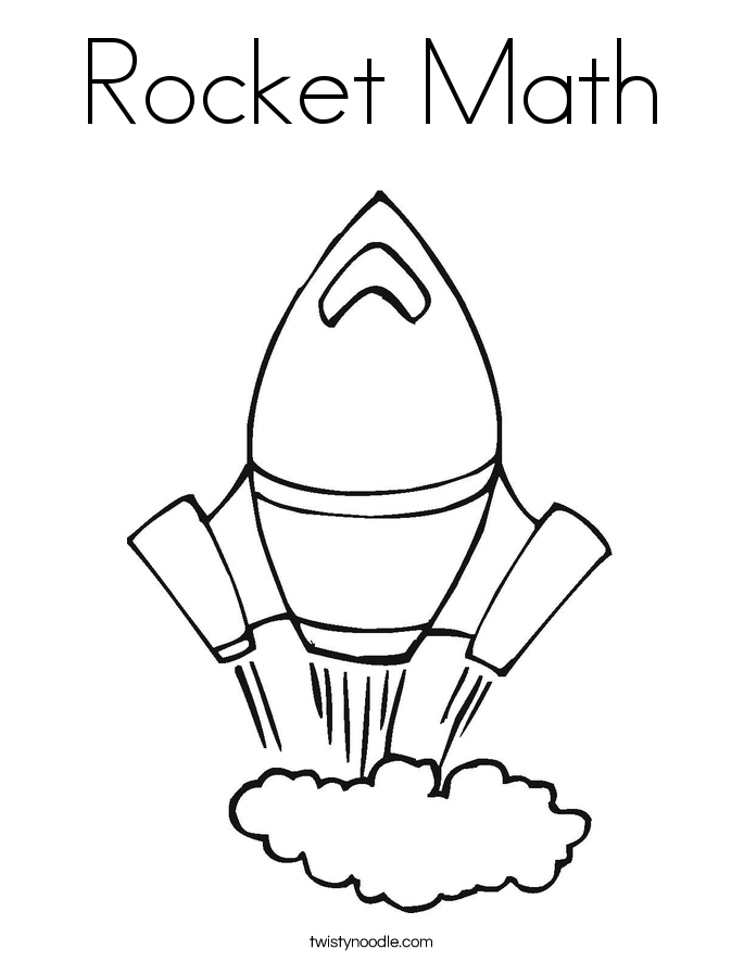 Rocket Math Coloring Page