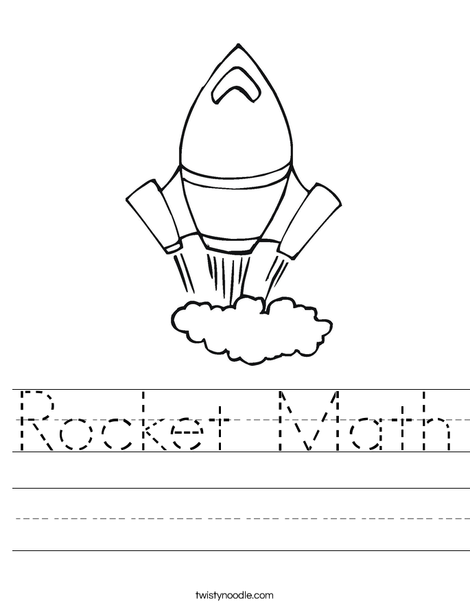 Rocket Math Worksheet Twisty Noodle – Rocket Math Worksheets