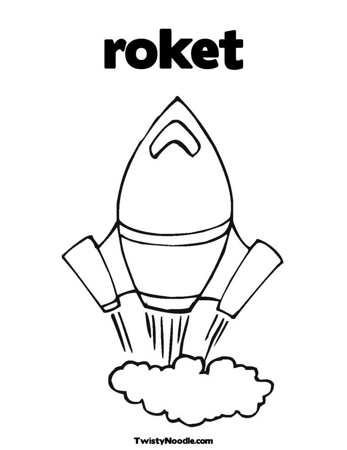 Coloring Pages Rockets. Rocket Coloring Page.