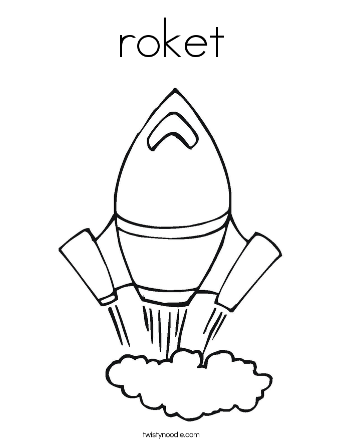 roket Coloring Page