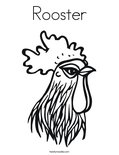 RoosterColoring Page