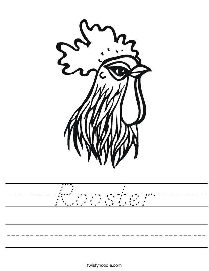 Rooster Worksheet
