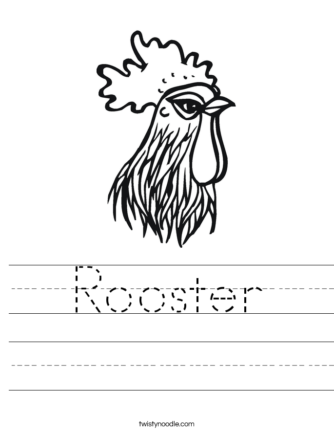 Rooster Worksheet