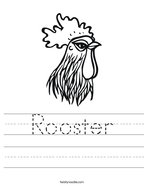 Rooster Handwriting Sheet