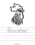 Rooster Handwriting Sheet