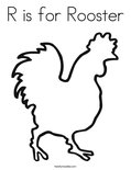 R is for RoosterColoring Page