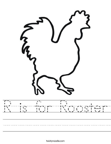 Blank Rooster Worksheet