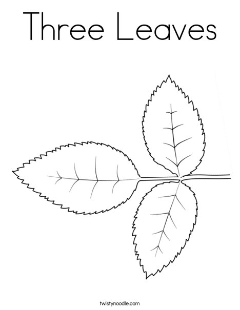 Rose Leaves Coloring Page