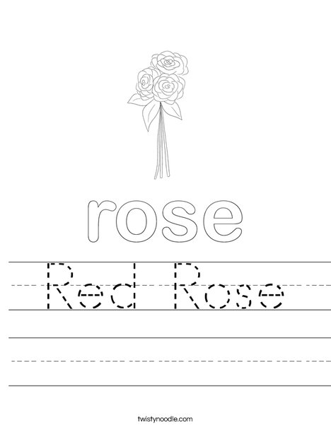 Rose Worksheet