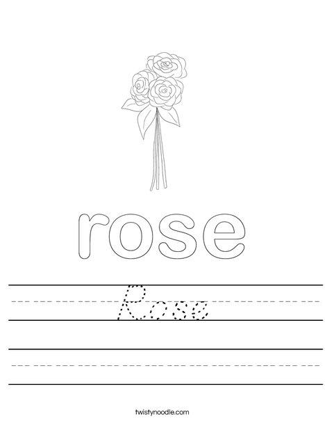 Rose Worksheet