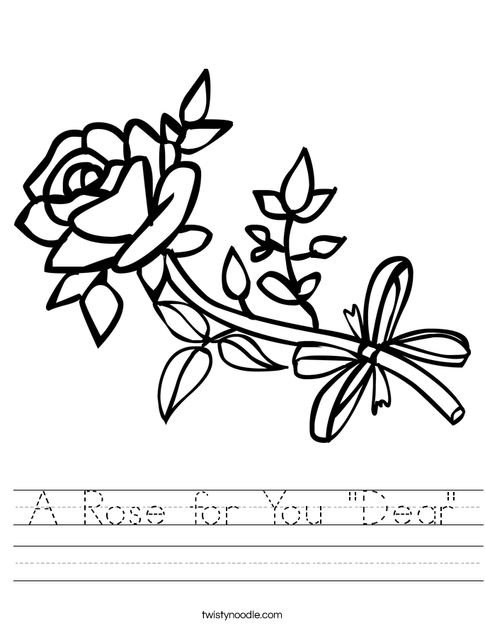 "A Rose for You ""Dear"" Worksheet"