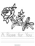 A Rose for You  Worksheet