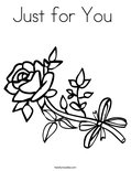 Just for You Coloring Page