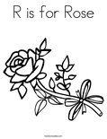 R is for Rose Coloring Page