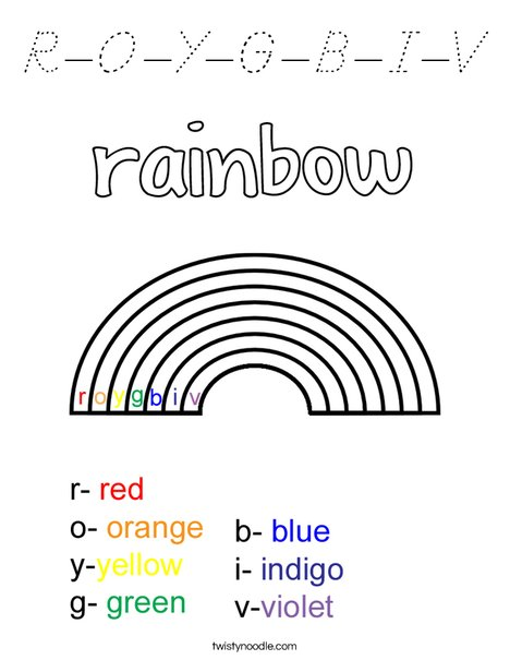ROYGBIV Coloring Page
