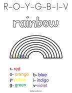 R-O-Y-G-B-I-V Coloring Page