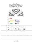 Rainbow Worksheet