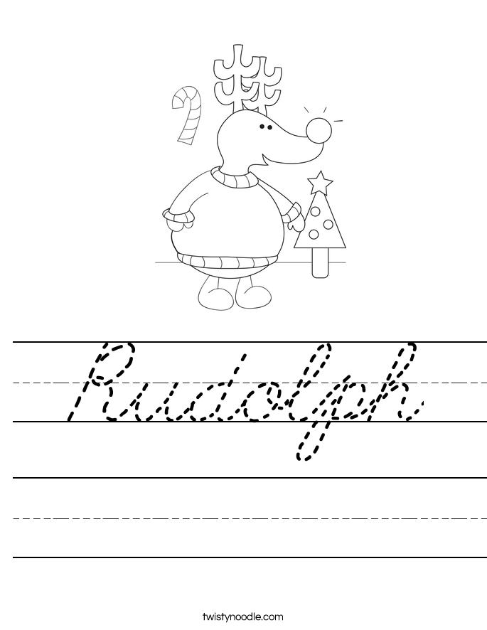 Rudolph Worksheet