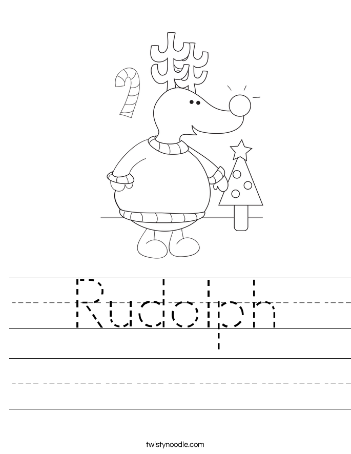 Rudolph Worksheet