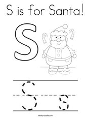 S is for Santa Coloring Page