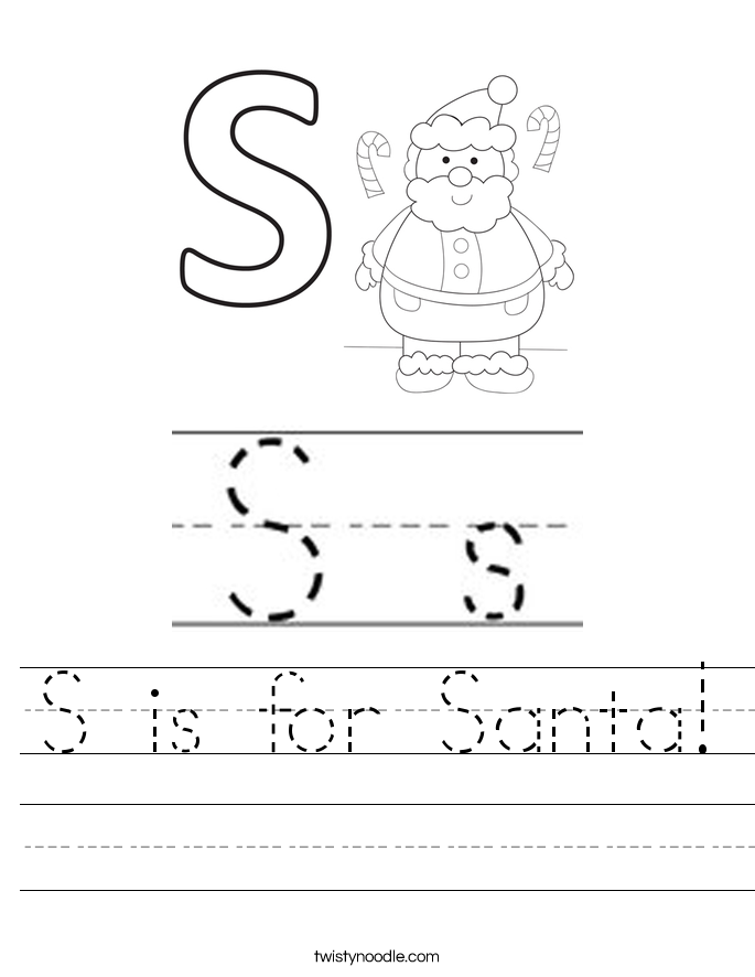 S is for Santa! Worksheet