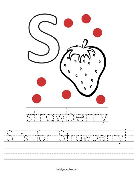 S is for Strawberry! Worksheet